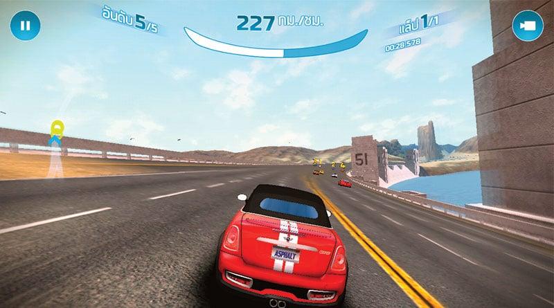 รีวิว Asphalt Nitro เกมแข่งรถสุดมันส์ ขนาดไฟล์เพียง 23 MB