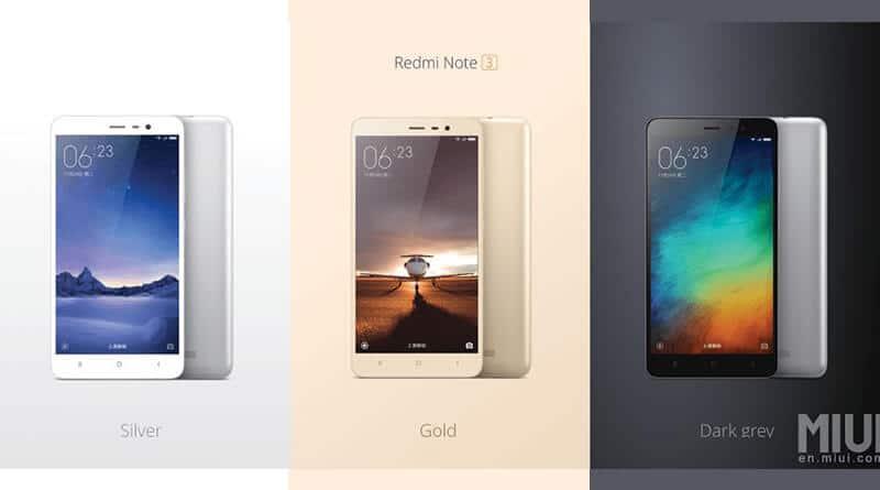 Redmi Note 3 สมาร์ทโฟนใหม่จาก Xiaomi บอดี้โลหะ แรม 2G ราคา 5,000 บาท
