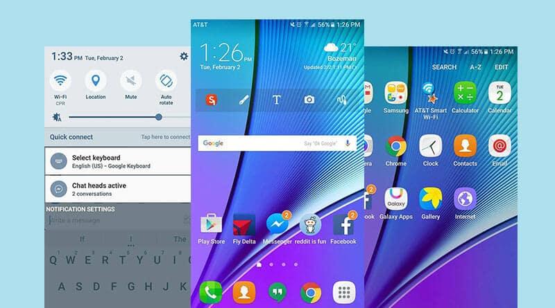 ชมภาพสกรีนชอต Samsung Galaxy Note 5 หลังอัพเป็น Android 6.0 Marshmallow
