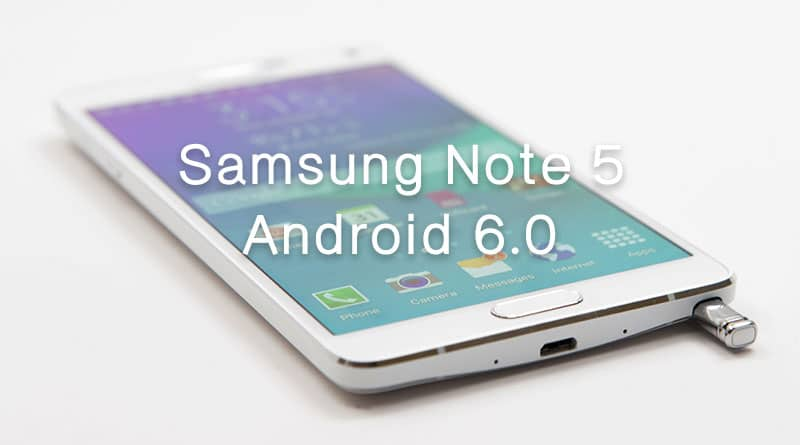 ผู้ใช้ Samsung Galaxy Note 5 ได้รับอัพเดท Android 6.0.1 แล้ว