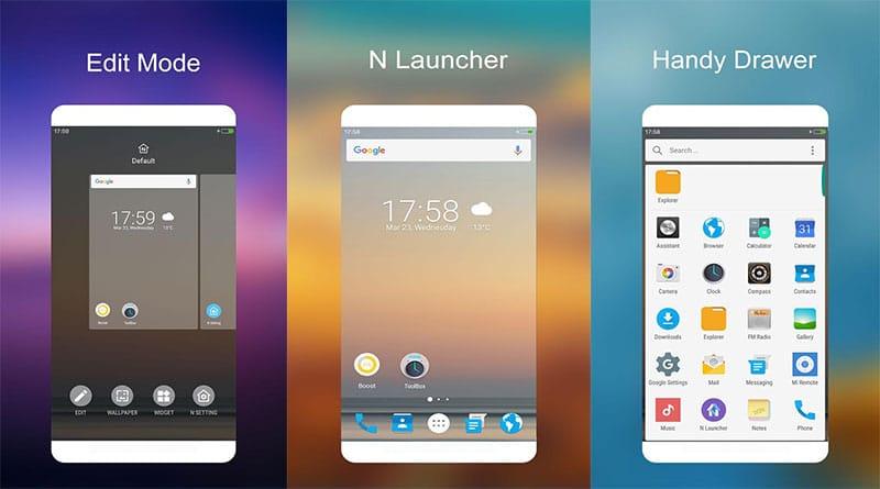 N Launcher ธีมมือถือสไตล์ Android 7.0 เรียบง่าย ไหลลื่น