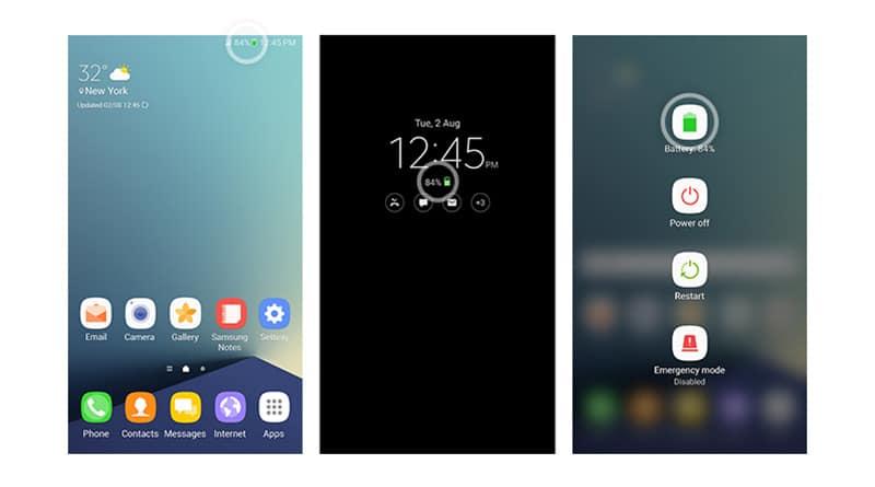 """Samsung Galaxy Note 7 รุ่นไร้ระเบิด จะมีไอคอน """"แบตสีเขียว"""" 3 จุด"""