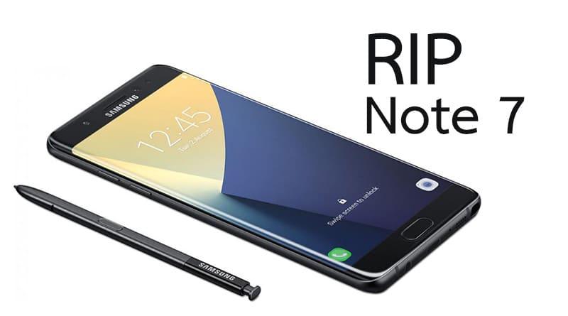 ลาก่อน Samsung ประกาศเลิกขาย Galaxy Note 7 แบบถาวร